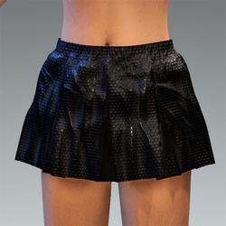 Folded Schort Skirt Black Hex