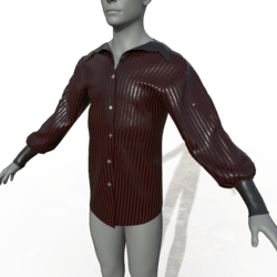 Goth Dress Shirt - Red