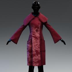 AV 2.0 Snowing outside coat - Prune red