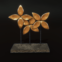 Sea Flower Art - brass