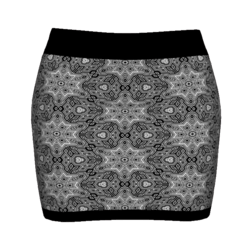 Woman Simple Skirt - Black&White