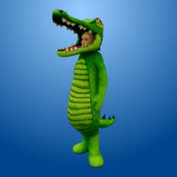 Croc Costume MedGreen (Female)