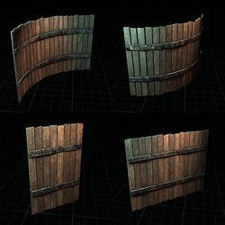 Polygon ~ Wood Fence Collection