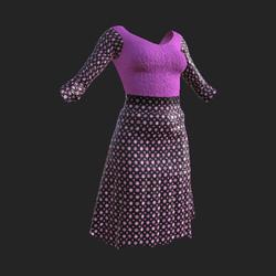 Pink Polkedot Skirt Outfit