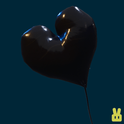 black heart balloon