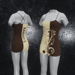 Dress Flora brown