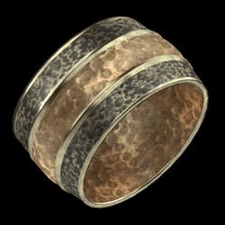Hammered Cuff Brass