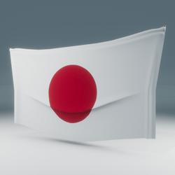 Japan Flag Wall Display