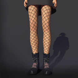 Fishnet Leggings Black