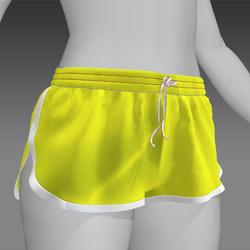 Short shorts Yellow