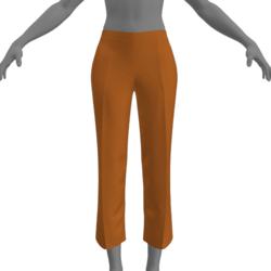 Simple Capris - Orange