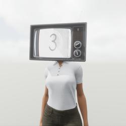 80's TV Head - Female