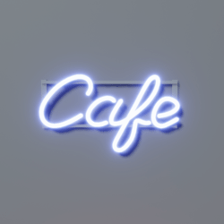 Cafe Neon - Blue