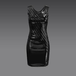 female dress lather black