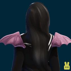 pink demon wings
