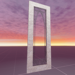 Art Nouveau Leaded Glass Door