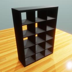IKEA shelf 3x5 black