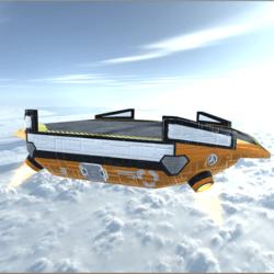 Sci-Fi Float Platform Industrial Set