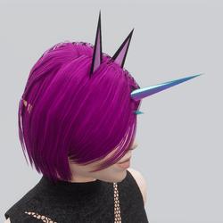 Pastel Twin Unicorn Horn