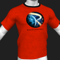 Star Trek Mission Log - Roddenberry T-Shirt - Red - Male