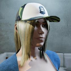 Cap with tintable hair camo
