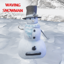 Chilly Challenge Greeting Snowman