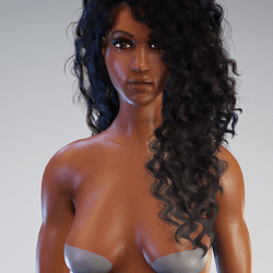 Kelly - Beautiful African American Avatar with awesome high heels