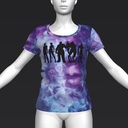 Ready Player One: Lineup T-Shirt (Tiedye) (W)