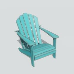 Adirondack Chair Aqua