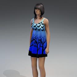 Dress Kassandra 2.0 halloween blue