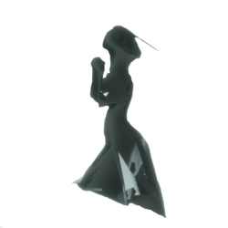 Lady Ghost Silhouette