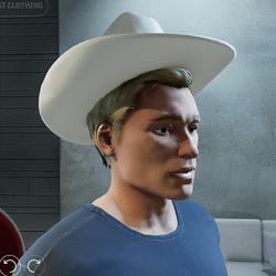 Cowboy Hat tilted back (Male)