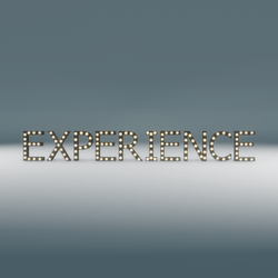 Experience Marquee Blinking Sign