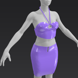 Latex Club outfit - Lavender