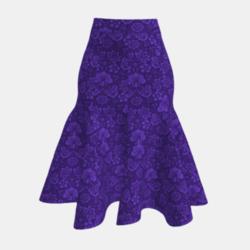 Persian blue floral Skirt
