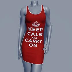 MPP - Keep Calm Dress - Carry On - Red