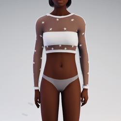 White Star See-Through Sweater
