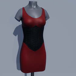 Corset Dress - Red