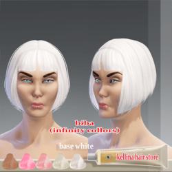 biba - white base hair -infity collors