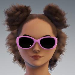 Sunni Glasses AV2 - Pink Dark Lenses