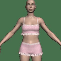 Ruffled Shorts & Tank Top - Pink Terri & Lace