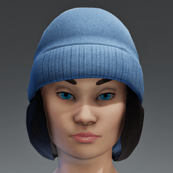 Winter Cap with Color change Cap - Black FEMALE