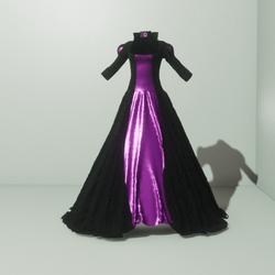Queens Gown Black/Purple