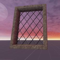 Small Diamond Pane Window
