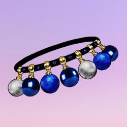 Ornaments Choker Blue Silver