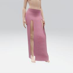 Simple Split Skirt Pink (TM)