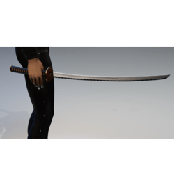 Katana sword named death