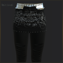EPIC SKIRT WITH LEGGINGS-BLACK AND SILVER