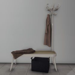 Coat rack with bench and accessories