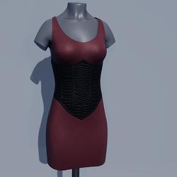 Corset Dress - Rose Brown